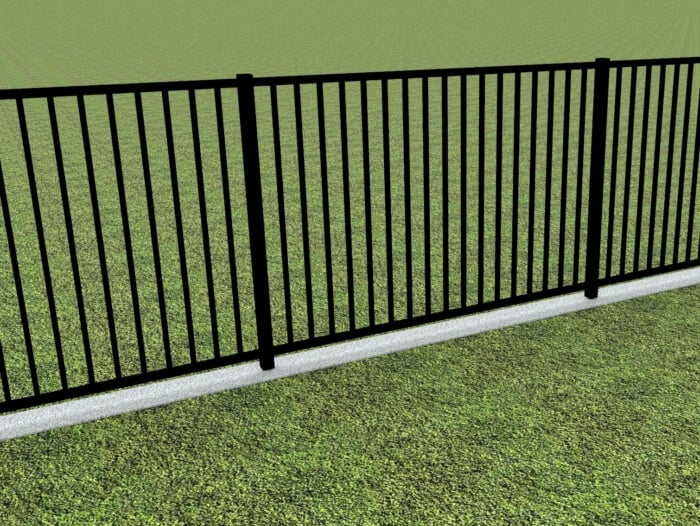 SentryPanel Spear Top Fence