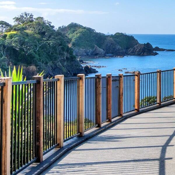 Fencing Auckland: sea view with aluminium fences